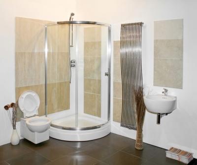 Framed glass shower enclosure in San Jose
