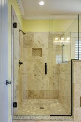 Frameless shower door installation in San Jose